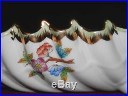 Herend Queen Victoria 11 Long Dragon Relish Dish 150 Anniversary Mark Mint Bin