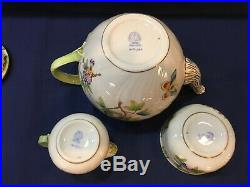 Herend Queen Victoria 3-PC Tea Pot- Sugar- Creamer Set
