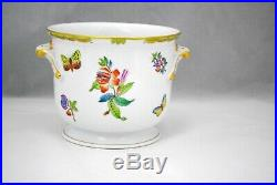 Herend Queen Victoria Cachepot Jardiniere Planter or Vase 5.5 inches tall