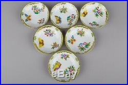 Herend Queen Victoria Coffee Mocha Set for Six People I, 17 Pieces
