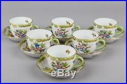 Herend Queen Victoria Coffee Mocha Set for Six People II, 17 Pieces
