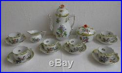 Herend Queen Victoria Coffee Set For 6 Persosns (13pcs.) Excellent condition