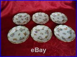 Herend Queen Victoria Dessert Plate set porcelain VBO (6 plate)