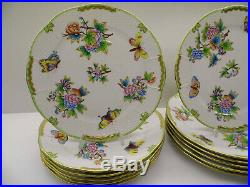 Herend Queen Victoria Dinner Plates Set, 12 Pieces, 524/vbo, 10 Inches Dia