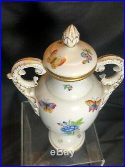 Herend Queen Victoria Fancy Vase with Lid Mint Condition