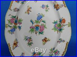 Herend Queen Victoria Giant Oval Service Platter ANTIQUE 1941 VBO