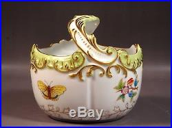 Herend Queen Victoria Handled Basket Hand Painted 7461/VBO