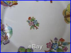 Herend Queen Victoria Handpainted Round Serving Plate/handle Dish Plate 7660/vbo