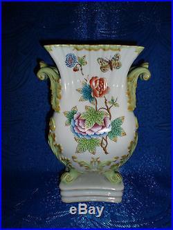 Herend Queen Victoria Harmonique Vase porcelain VBO with ANTIQUE sign