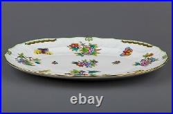 Herend Queen Victoria Large Oval Serving Platter #1102/VBO II