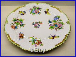 Herend Queen Victoria Large Round Platter, 13 Inches Dia, 156/vbo, New Retail $510