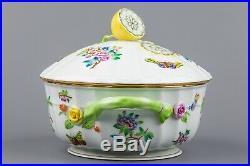 Herend Queen Victoria Large Soup Tureen with Lemon Knob #1023/VA
