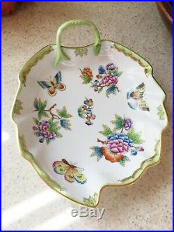 Herend Queen Victoria Leaf Dish
