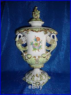 Herend Queen Victoria Medium size Baroque Vase porcelain VBO