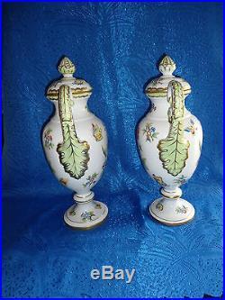 Herend Queen Victoria Medium sized urn vase pair porcelain