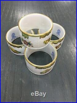 Herend Queen Victoria Napkin Ring Set/4