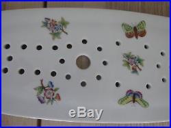 Herend Queen Victoria Pattern Fish Platter Strainer 20.25