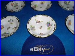 Herend Queen Victoria Pickle Compote Plate set 6 plates porcelain VBO