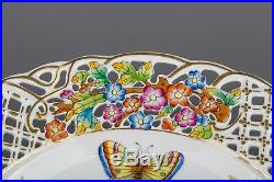 Herend Queen Victoria Reticulated Wall Plate #8434/VBO