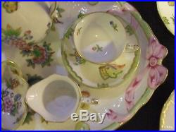 Herend, Queen Victoria, Romantic Coffee for Two Extended set in Mint Condition