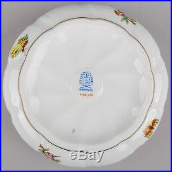 Herend Queen Victoria Round Bonbon Candy Box with Flower Bunch Finial #6170/VBO
