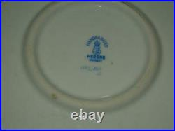 Herend Queen Victoria Round Hand Painted Handled Platter Tray 1173 Butterfly