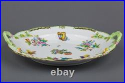 Herend Queen Victoria Round Serving Platter with Handles #173/VBO