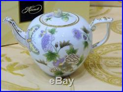Herend Queen Victoria Royalgarden Evict1 Teapot, Brand New Boxed, 30fl Oz Hold