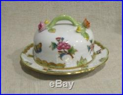 Herend Queen Victoria Small Covered Butter Dish # 394