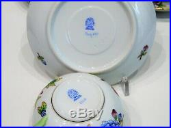 Herend Queen Victoria Tea Cups with Saucers Set of Six 1726/VBO