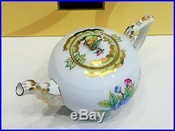 Herend Queen Victoria Tea Pot Miniature Butterflies Knob Brand new