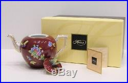 Herend Queen Victoria Tea Pot w. Butterfly Knob- 606-0-17 VE-FP Brand New