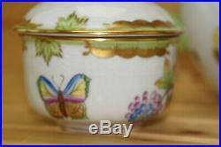 Herend Queen Victoria Tea SET Teapot, 5 1/8 & Creamer & Sugar Bowl withLid