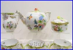 Herend Queen Victoria Tea Set 6 Person VBO design
