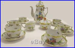 Herend Queen Victoria Tea Set For 6 Persons, 17 Pieces