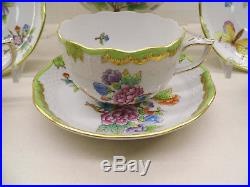 Herend Queen Victoria Tea Set For Six, 17 Pieces, Mint Condition