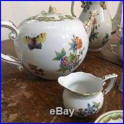 Herend Queen Victoria Tea Set LOT - GREAT PRICE