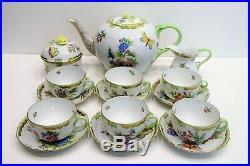 Herend Queen Victoria Tea Set and Dessert Set 6 Person VBO design