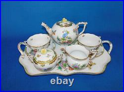 Herend Queen Victoria Tea set for 2person with oblong serving plate porcelainVBO