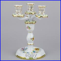 Herend Queen Victoria Three Light Candle Holder #7915/VBO I