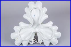Herend Queen Victoria Triple Shell with Dolphin Fish Centerpiece #7449/VBO