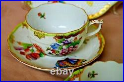 Herend Queen Victoria VBO 2 x tea & 2x mocha cups with 2x large dessert plates
