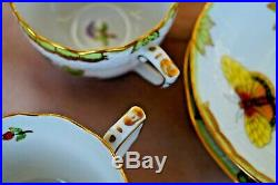 Herend Queen Victoria VBO 2x mocha cups with 2x saucers 711