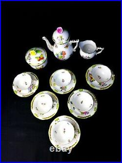 Herend Queen Victoria VBO Coffee Set for 6 Persons
