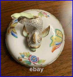 Herend Queen Victoria VBO Ginger Jar with a Finial Koi Fish