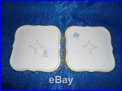 Herend Queen Victoria VBO Traced Serving Plate pair porcelain VBO