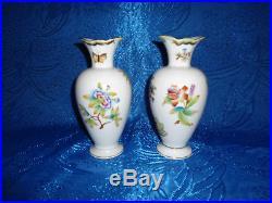 Herend Queen Victoria VBO Vase pair porcelain