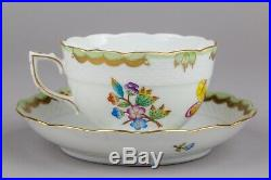 Herend Queen Victoria XLarge Tea Cup with Saucer #701/VBO III