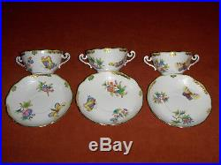 Herend Queen Victoria cream soup cup&saucer set of 6. #718VBO