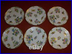 Herend Queen Victoria dinner plate set of 6. #524VBO